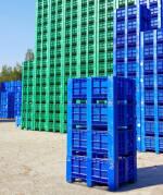 Producción de triturados plásticos. Caja de Plástico